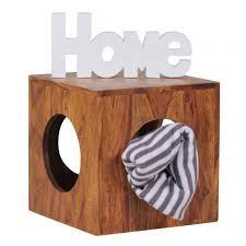 COMFORIUM - Table d'appoint carrée 35x35 cm en bois massif sheesham ...
