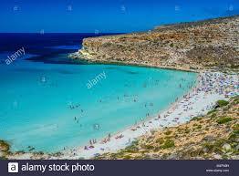 Italy Sicily Lampedusa Island Rabbit Beach Stock Photo 174908317