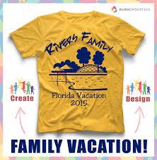 Family Shirt Design Template Family Vacation Custom T Shirt Design Idea Create And
