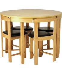 hygena alena oak circular dining table and 4 chairs at argos co uk