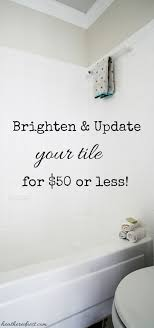 can you paint tile how we brightened our bathtub on a budget