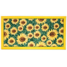 Non Slip Rugs For Kitchen Watch More Like Sunflower Throw Rug For Kitchen