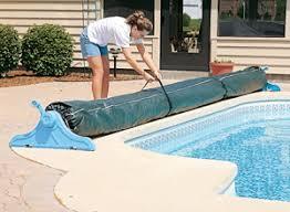 winter pool covers. Winter Solar Reel \u0026 Blanket Covers Pool O