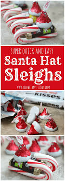 kid craft gifts for christmas. candy santa hat sleighs. christmas crafts for kidschristmas kid craft gifts