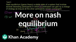 My Nash Chart More On Nash Equilibrium Video Khan Academy