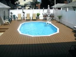 semi inground pool ideas. Semi Inground Pool With Deck Ideas Designs