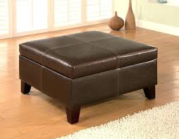 leather ottoman coffee table with storage brown square ottoman amazing brown leather ottoman top brown leather