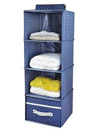 hanging closet organizer with drawers. Iwill CREATE PRO 4-Shelf Hanging Closet Organizer With Drawer, Thick Wooden  Boards Inside Hanging Closet Organizer Drawers T