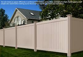 vinyl fence colors. We Offer A Tan Privacy Vinyl Fence Colors E