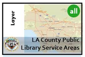 La County Public Library Service Areas City Of Los Angeles Hub