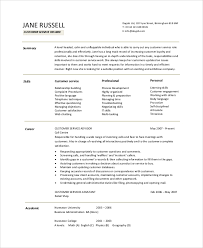 Resume Objective Samples Customer Service 9 Resume Objective Samples Pdf Word