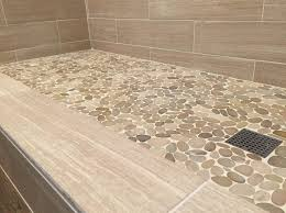 fascinating natural stone shower floor tile with modern bathroom wall tiles