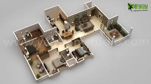 awesome new modern house 3d floor plan design on behance