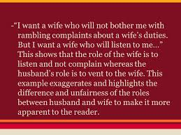 "why i want a wife"" a satirical essay by judy brady ppt video  11 ""i want a"