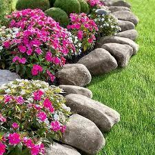 fake rock lawn edging garden landscape