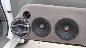 hertz car audio spl mids and highs demo of my custom door panels car audio box builder at Car Audio Box
