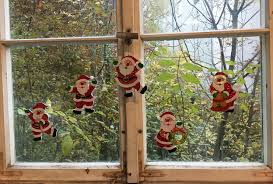 Weihnachtsdeko Geschenkanhänger Weihanchtsmann 5er Pack Fensterdeko Weihnachten