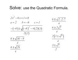 glamorous solve each equation the quadratic formula calculator for x um size