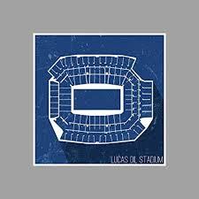 Amazon Com Artsycanvas Lucas Oil Stadium Football Seating