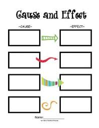 Cause And Effect Template Reading Ideas For Primary Kiddos Cause