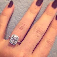 Carat Size Chart Emerald Cut Emerald Cut Engagement Rings Pics Please