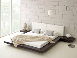 modern white nuance of the floating platform beds for sale that