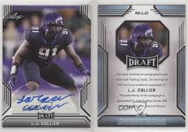 Credit card companies, like most other things in life, come in all shapes and sizes. 2019 Leaf Draft Lj Collier Ba Ljc Rookie Auto Ebay