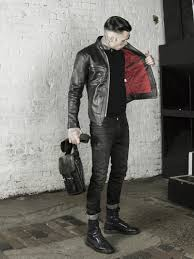 leather monkeys icon cafe racer jacket with red lining lmuk co
