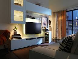 Modern Warm Nuance Interior Living Room With The Tv Stand White ...