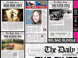 Newspaper Template Psd 5 Newspaper Templates Bundle