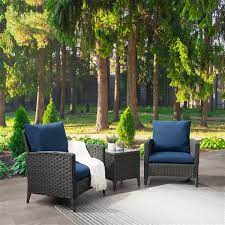 corliving rattan chair patio set with