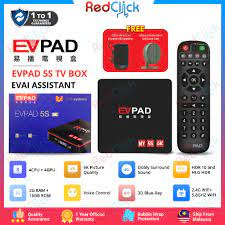 EVPAD 5S Support Up To 6K Resolution Smart Voice Control Function Android  TV Box Malaysia Edition (2GB/16GB) [2 Gift]
