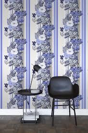 Bolcom Hd Vliesbehang Vintage Bloemen Delfts Blauw 138116