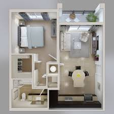 Awesome One Bedroom Apartment Design Amusing Design