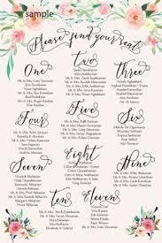Wedding Table Seating List Sada Margarethaydon Com