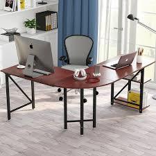 L shaped desk home office Desk Set Large Lshaped Desk 67 Overstock Shop Large Lshaped Desk 67