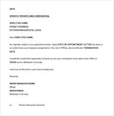 termination letter template employee termination letter dc design