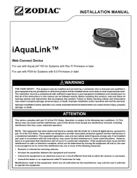 jandy acirc reg pro series valve actuator iaqualink web connect device installation manual
