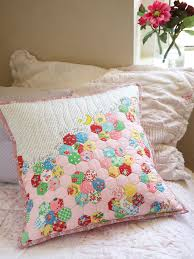 70 best Patchwork Pillows images on Pinterest | Cushions ... & I love you to the moon and back - Easy Hexie Pillow - free pattern by Adamdwight.com
