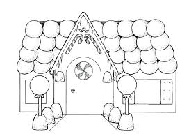 Gingerbread Coloring Page Printable Gingerbread House Coloring Pages