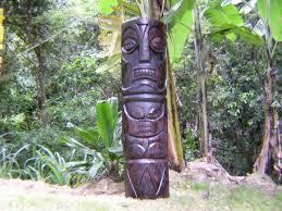 51 trader vics tiki statue polynesian art sculptures outdoor garden statues tropical yard decor carvings