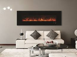 electric wall mounted fireplace with panoramic glass modern electric fireplace by british fires