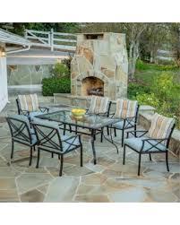 7 piece patio dining set. Redford 7-Piece Patio Dining Set, Seats 6, Box 1 Of 2 7 Piece Set U