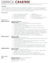 Business Analyst Resume 5 Accomplishments Business Analyst Resume ...