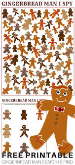 printable gingerbread man game and i spy printable search and find game freeprintable ece earlylearning gingerbreadman