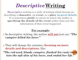 source revised by t m chambers ppt 6 descriptive writing descriptive