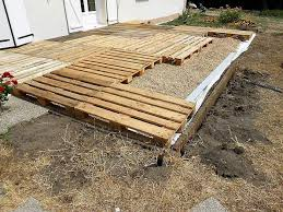 outdoor pallet wood. DIY Pallet Wooden Backyard Floor Project Outdoor Wood