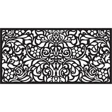 matrix 1160 x 580mm charcoal baroque