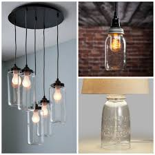 interior mason jar lighting fixtures for your rustic home the country chic exotic light fixture