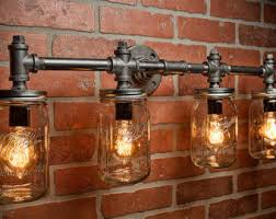 etsy industrial lighting. industrial lighting mason jar light steampunk bar etsy